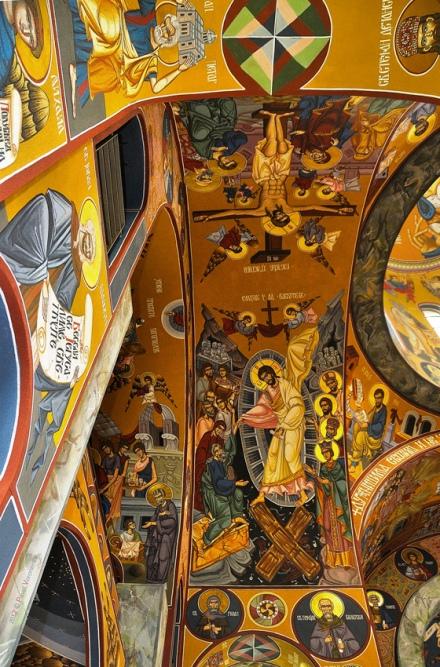 The All Serbian Saints Church, Ceiling Details