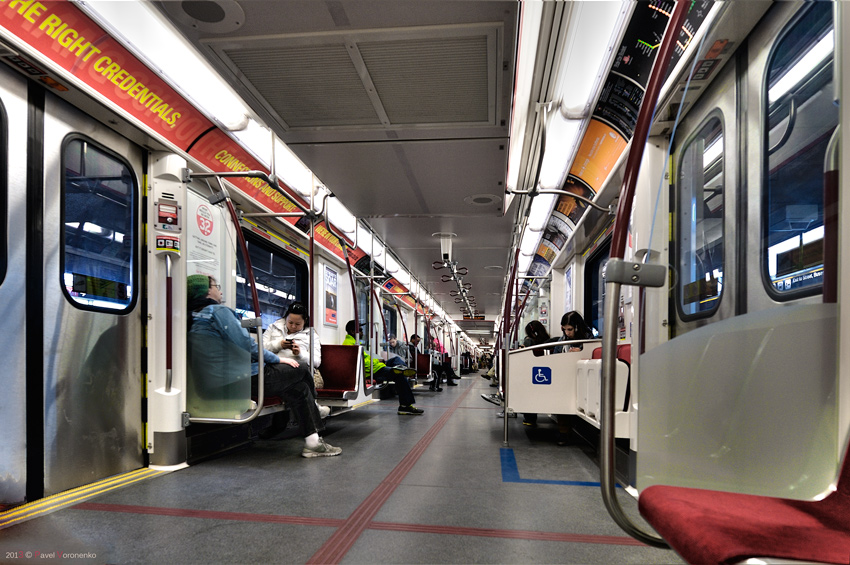 TTC Subway Train interior