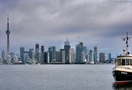 Downtown Toronto. View from Toronto Island