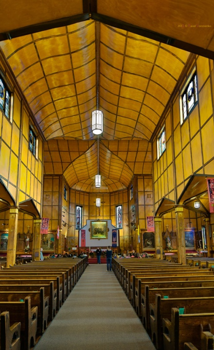 Interior of the Martyrs' Shrine
